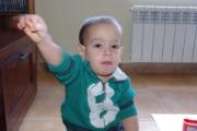 P, con dos años y tres meses, aun sin pronunciar palabra